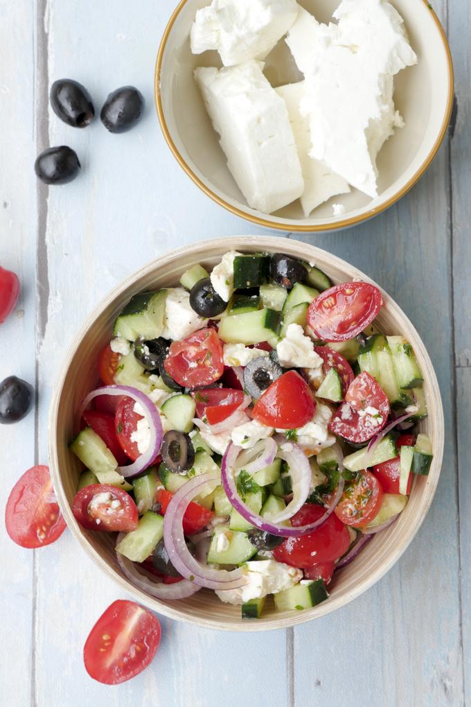 Griechischer Bauernsalat - ein leichter und erfrischender Sommersalat