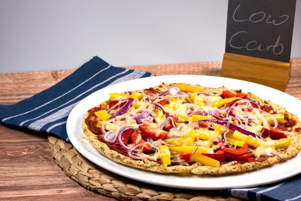 Rezept: Low Carb Pizza aus Blumenkohl-Teig