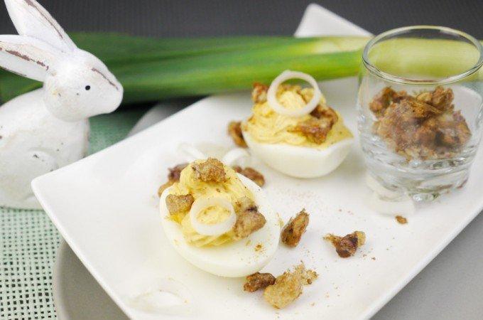 Gefüllte Eier für den Osterbrunch