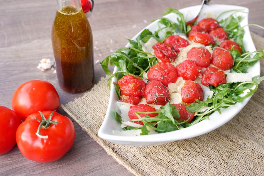 Schnelle Leichte Sommerküche Ofentomaten Mit Hähnchen : Leckerer rucolasalat mit tomaten zum grillfest