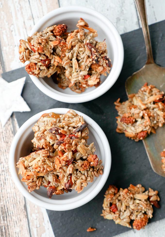 Superfood-Kekse mit Maulbeeren und Gojibeeren