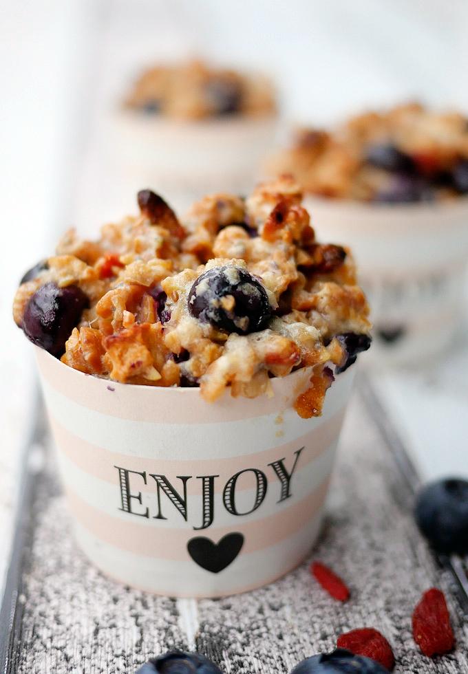 Heidelbeer-Muffinsmit Quark und Chiasamen