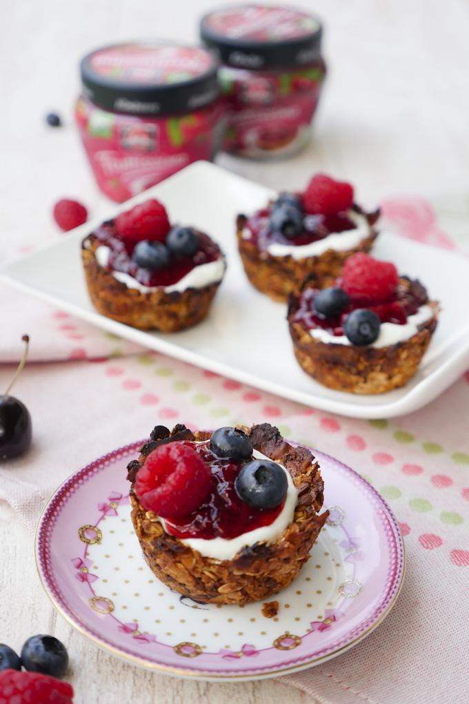 Rezept für gesunde Knusperschalen mit Früchten