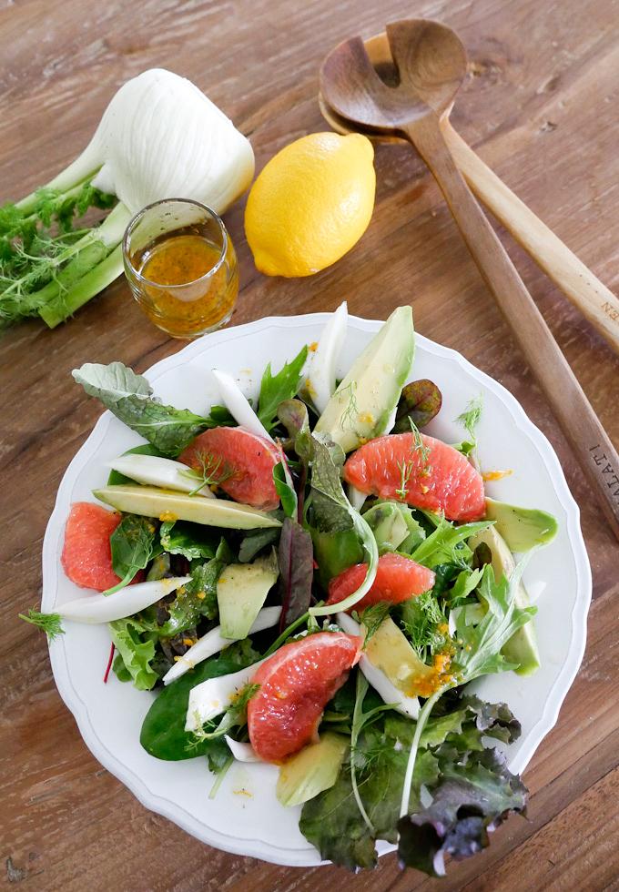 Rezept für Paleo-Salat mit Grapefruit, Fenchel und Avocado