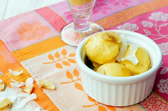 Mango-Bananen-Sorbet