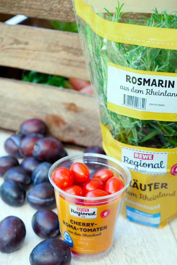 REWE Regional Tomaten, Zwetschgen und Kräuter