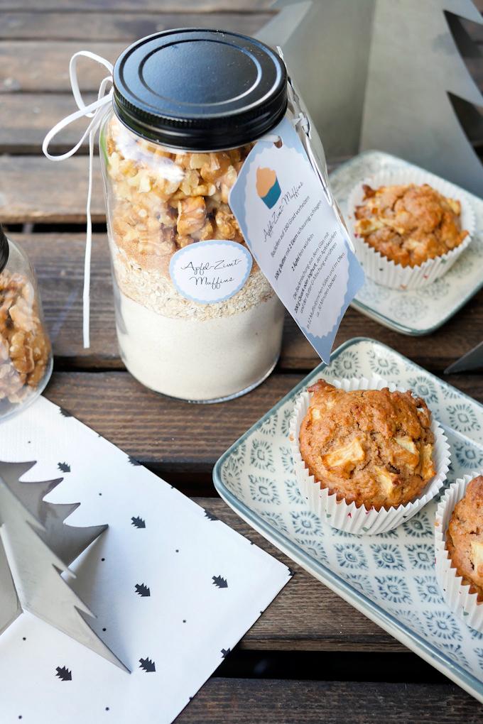 Gesunde Backmischung für Apfel-Zimt-Muffins