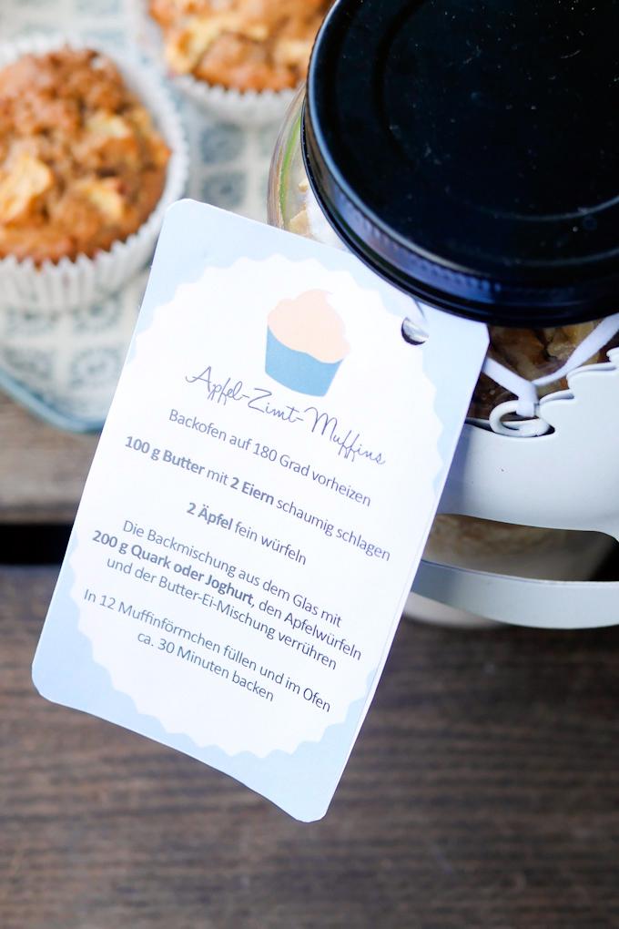 Etiketten für Apfel-Zimt-Muffins - Geschenke aus der Küche