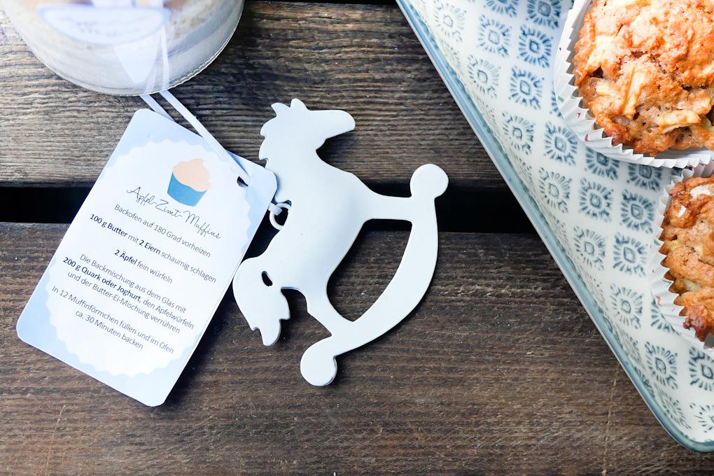 Etiketten zum Ausdrucken für Apfel-Zimt-Muffins - Geschenke aus der Küche