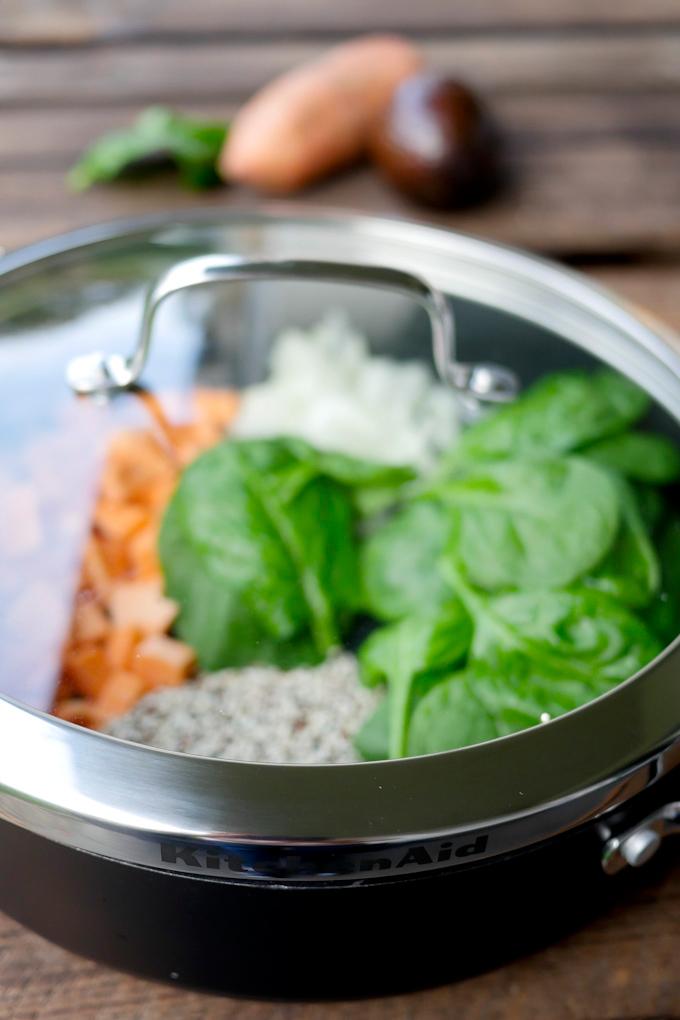 KitchenAid Servier- und Schmorrpfanne mit Deckel