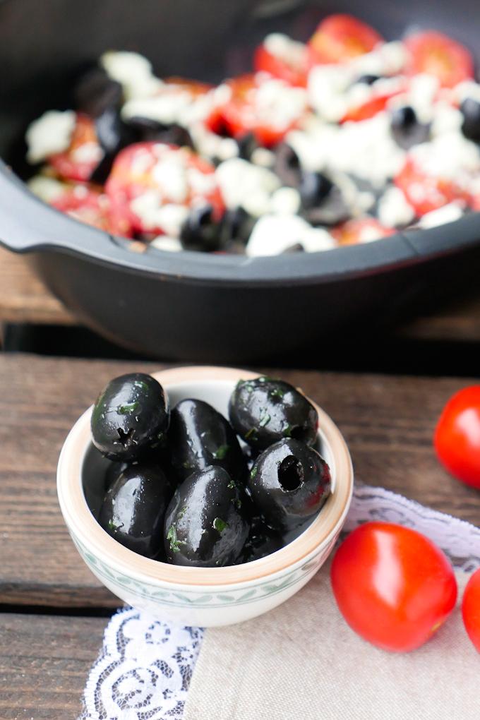 Oliven für den Ofen-Feta