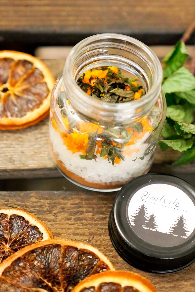 Orangen-Zimt-Salz mit Minze