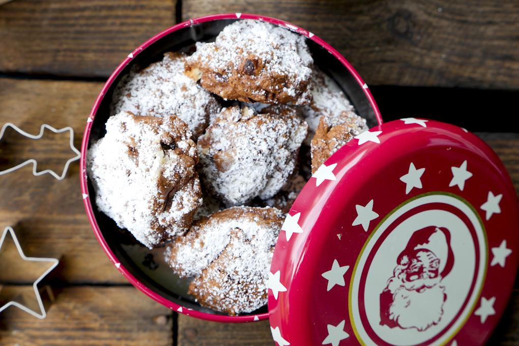Rezept für Schokoplätzchen mit Nüssen - Weihnachtsplätzchen