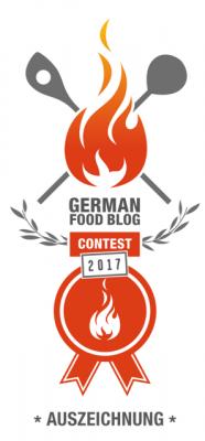 German Foodblog Award Contest Auszeichnung