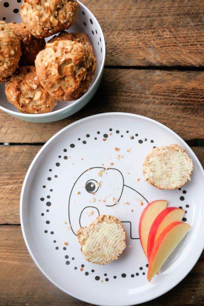 Essensplan mit 10 Monate altem Baby und leckere Apfelbrötchen