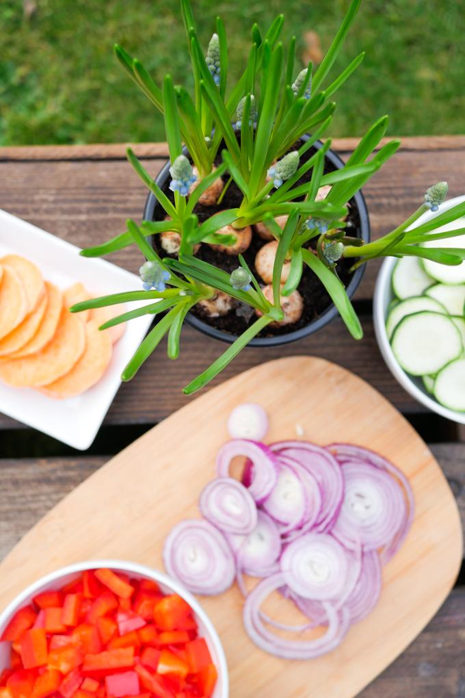 Gesunde Zutaten für die Gemüsefrittata
