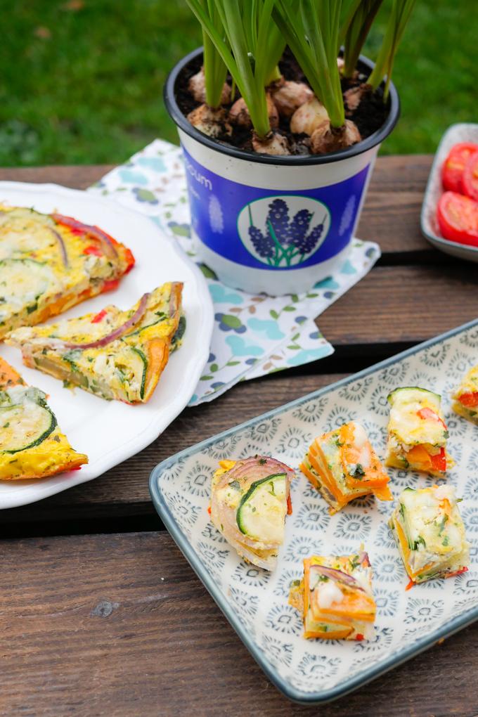Gesunde Gemüse-Frittata als Fingerfood
