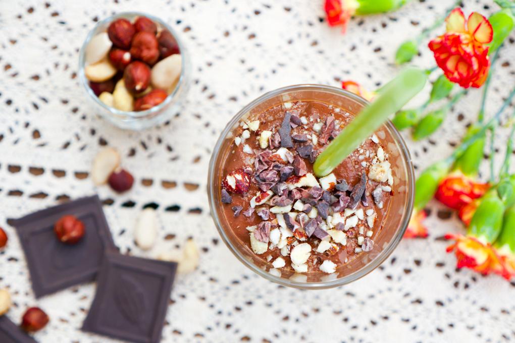 Gesunder Kaffee-Smoothie zum Frühstück