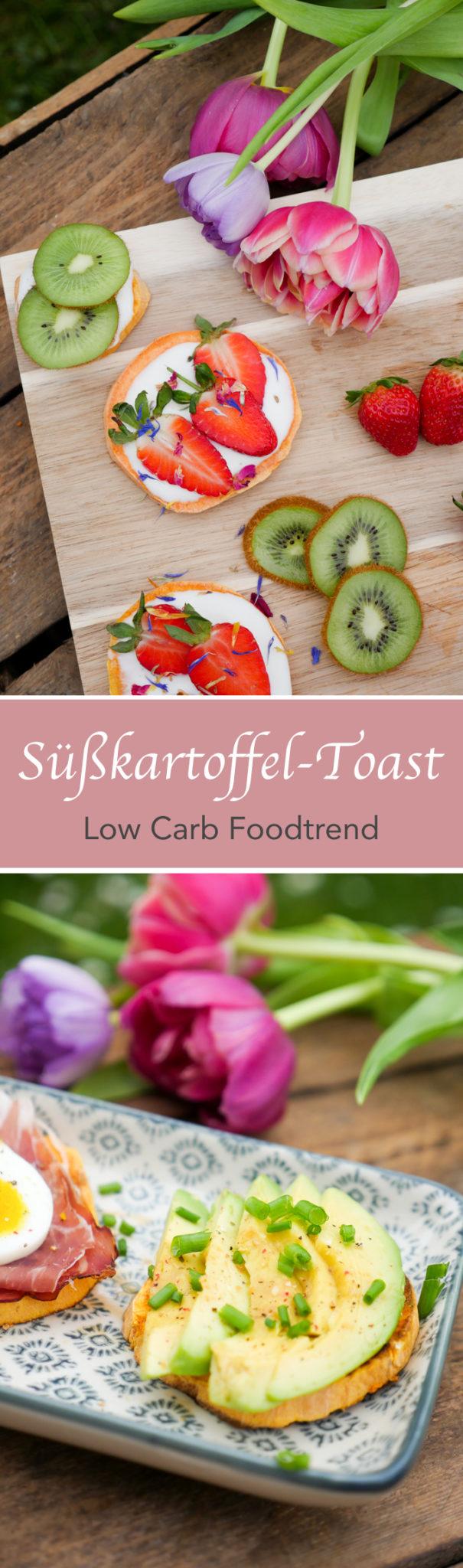 Low Carb Süßkartoffel-Toast herzhaft und süß - Foodtrend