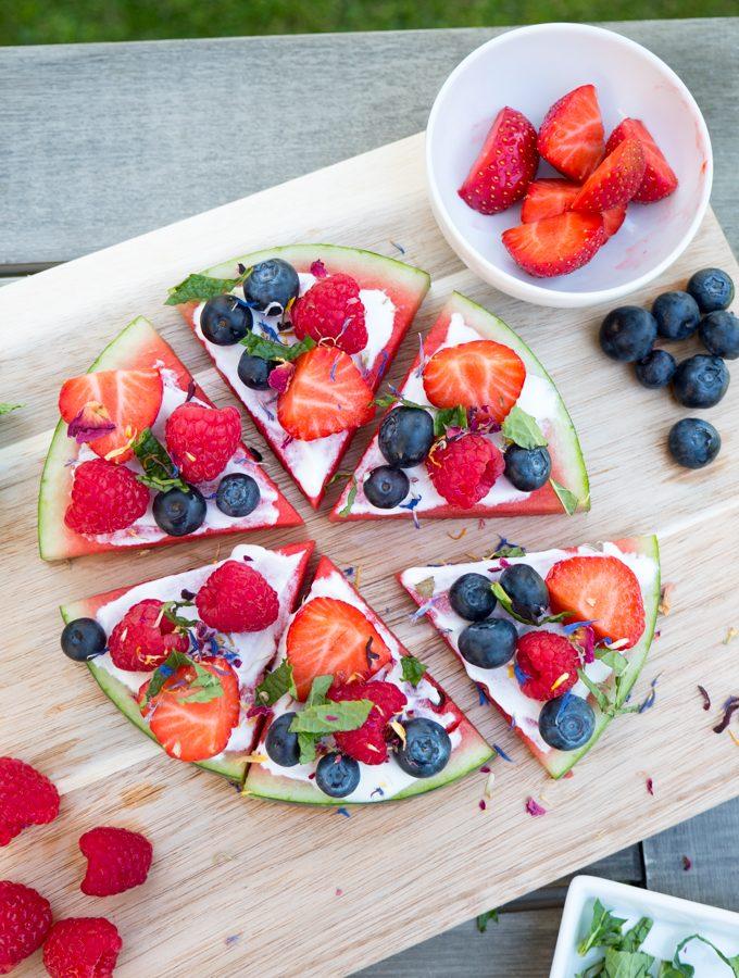 Wassermelonen-Pizza – die gesunde Pizza