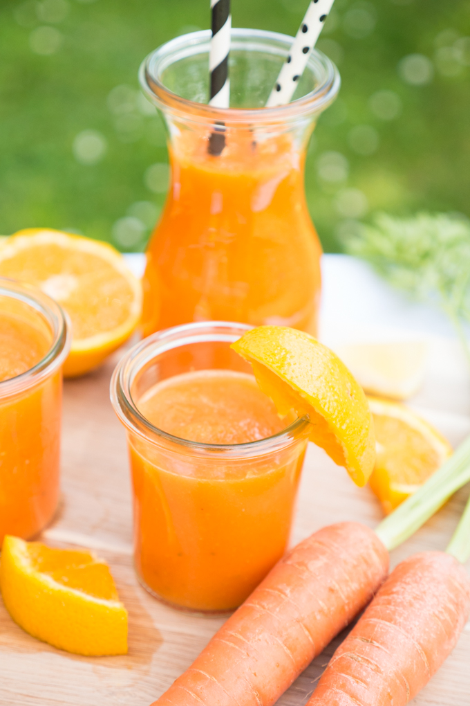 Orangen-Kartotten-Smoothie