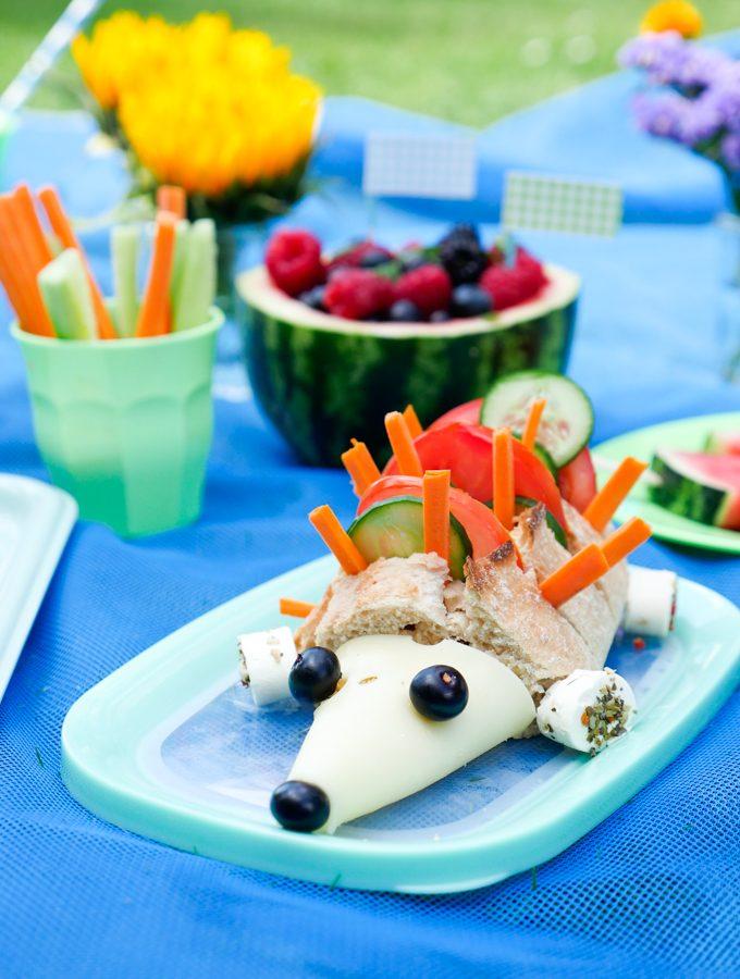 Gesundes Kinderpicknick mit dem Käseigel reloaded