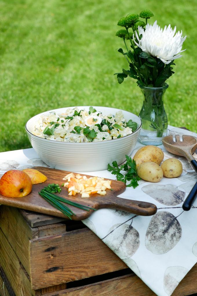 Rustikaler Kartoffelsalat mit selbstgerechter Mayo