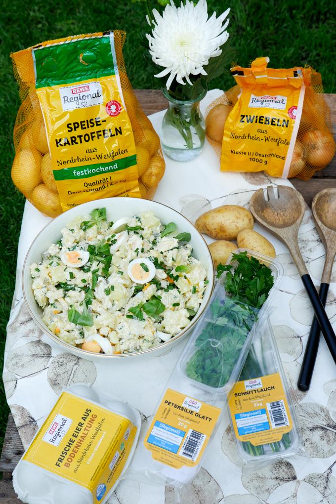 Kartoffelsalat mit REWE Regional Produkten