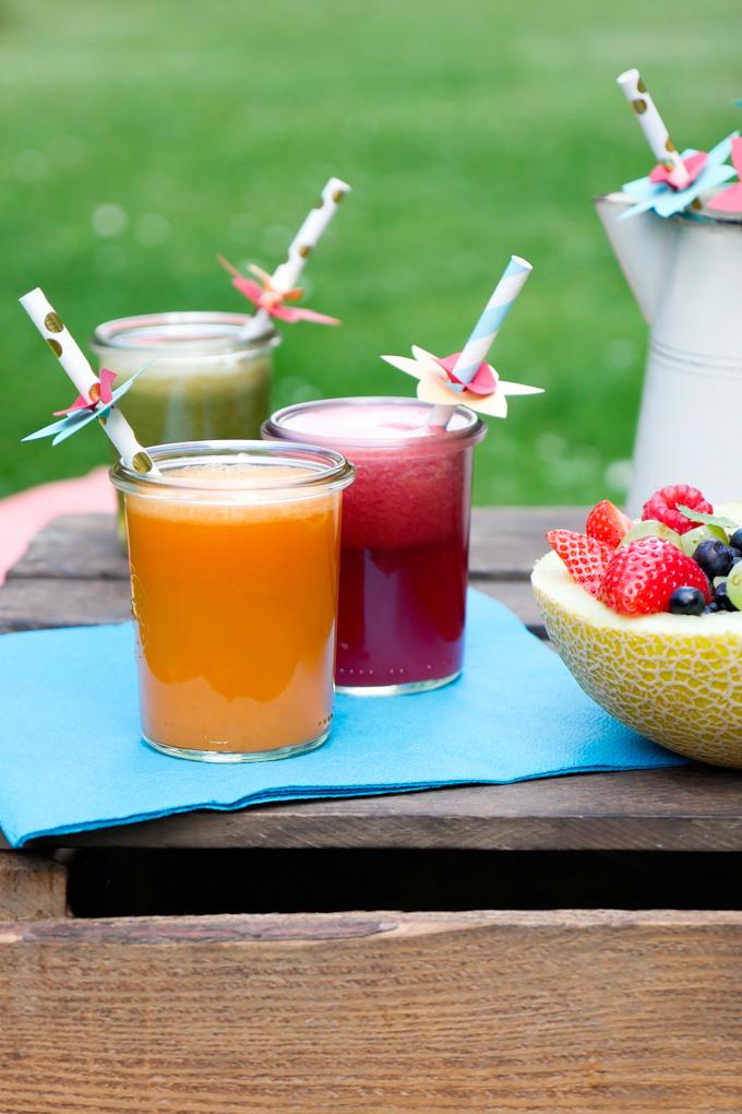 Saft mit Gemüse und Obst für Kinder