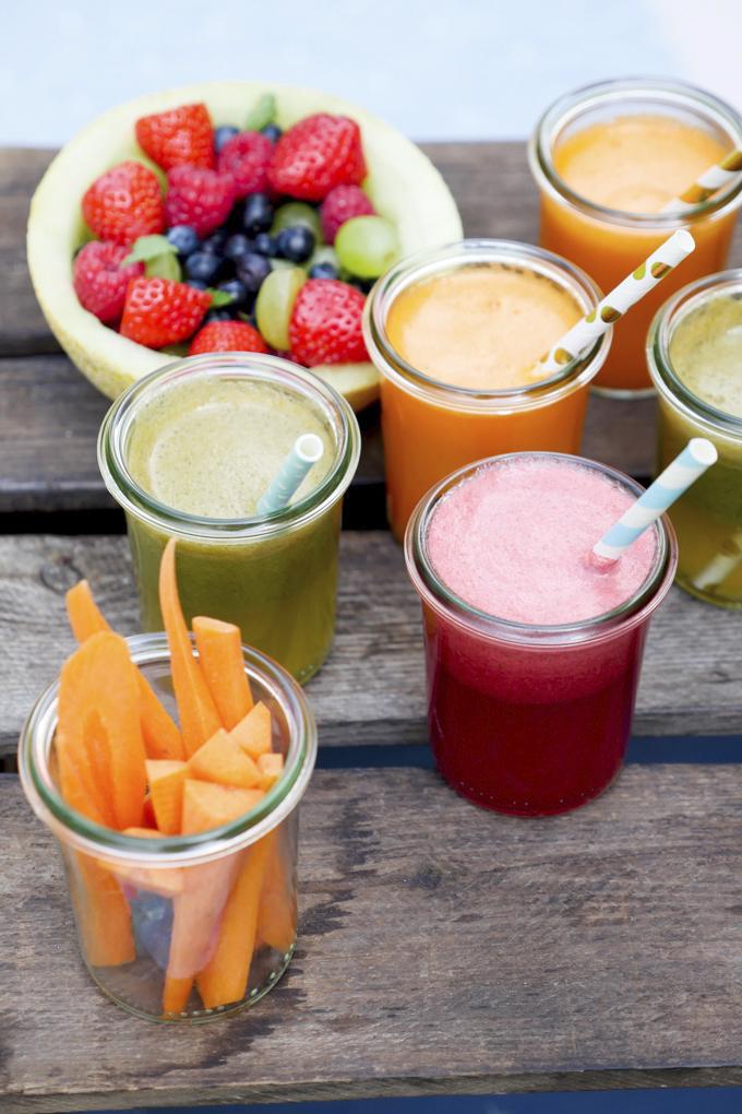 Säfte aus Obst und Gemüse für Kinder