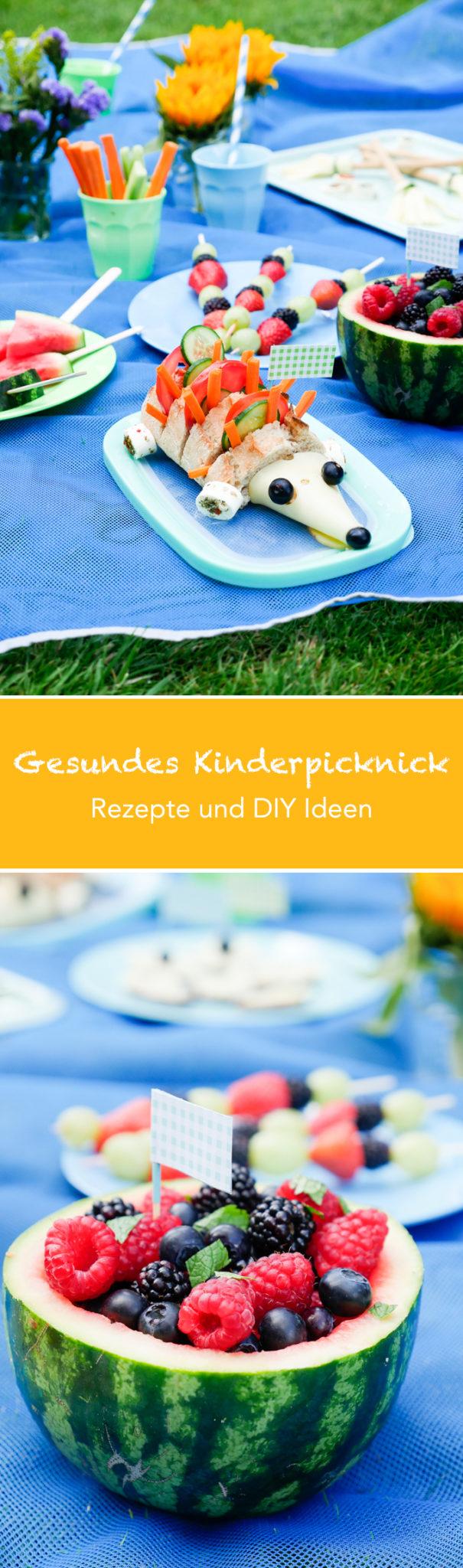 Gesundes Kinderpicknick - Rezepte und DIY Ideen