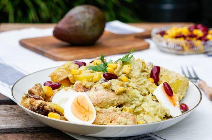 Kartoffelsalat mit Hähnchen und Avocadodressing + GEWINNER