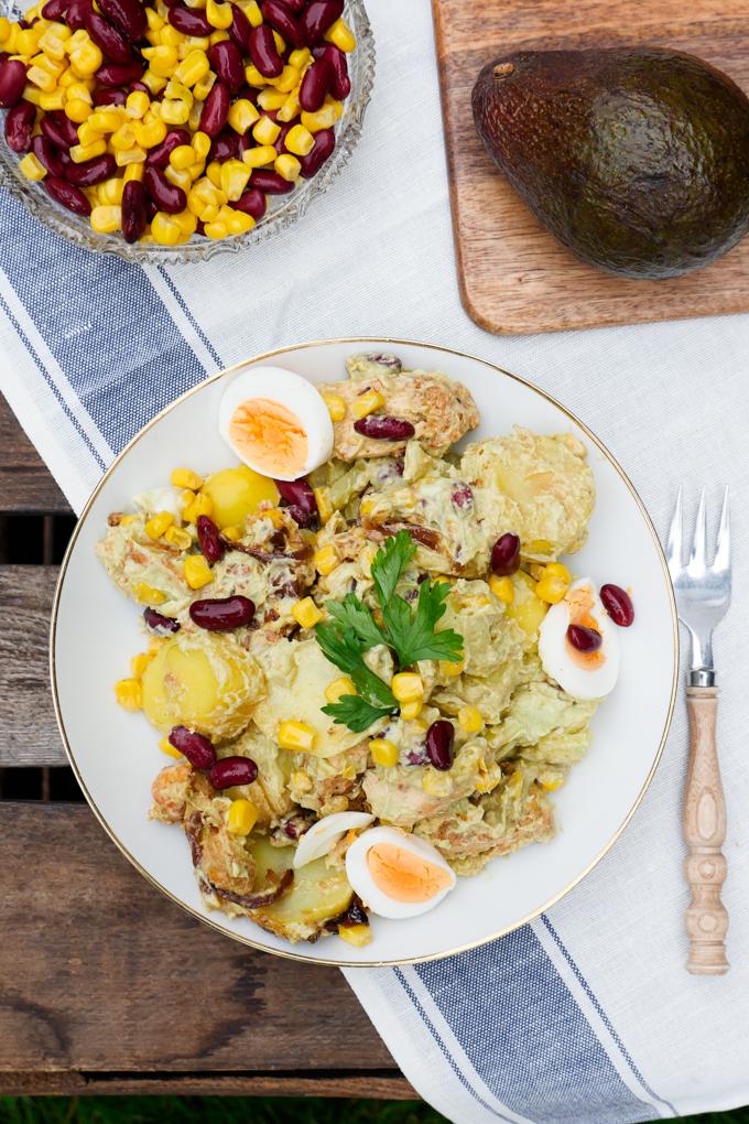 Kartoffelsalat mit Avocadodressing