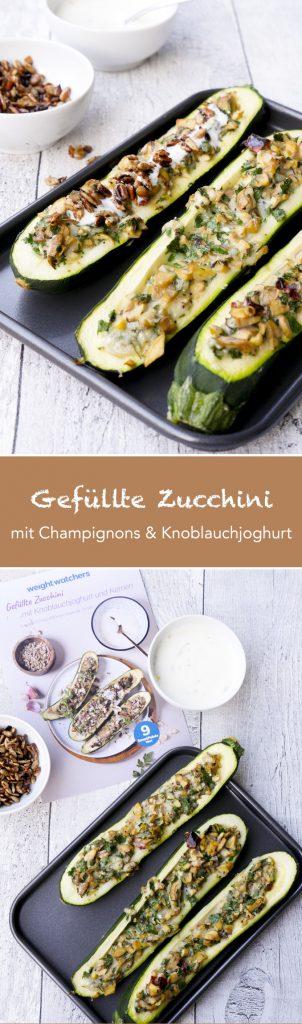 gef llte zucchini mit champignons und knoblauchjoghurt low carb. Black Bedroom Furniture Sets. Home Design Ideas