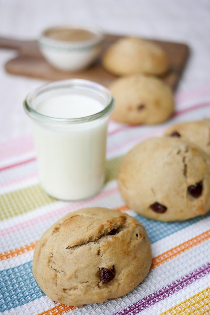 Die allerbesten gesunden Milchbrötchen mit Apfelmark - perfekt für Kinder