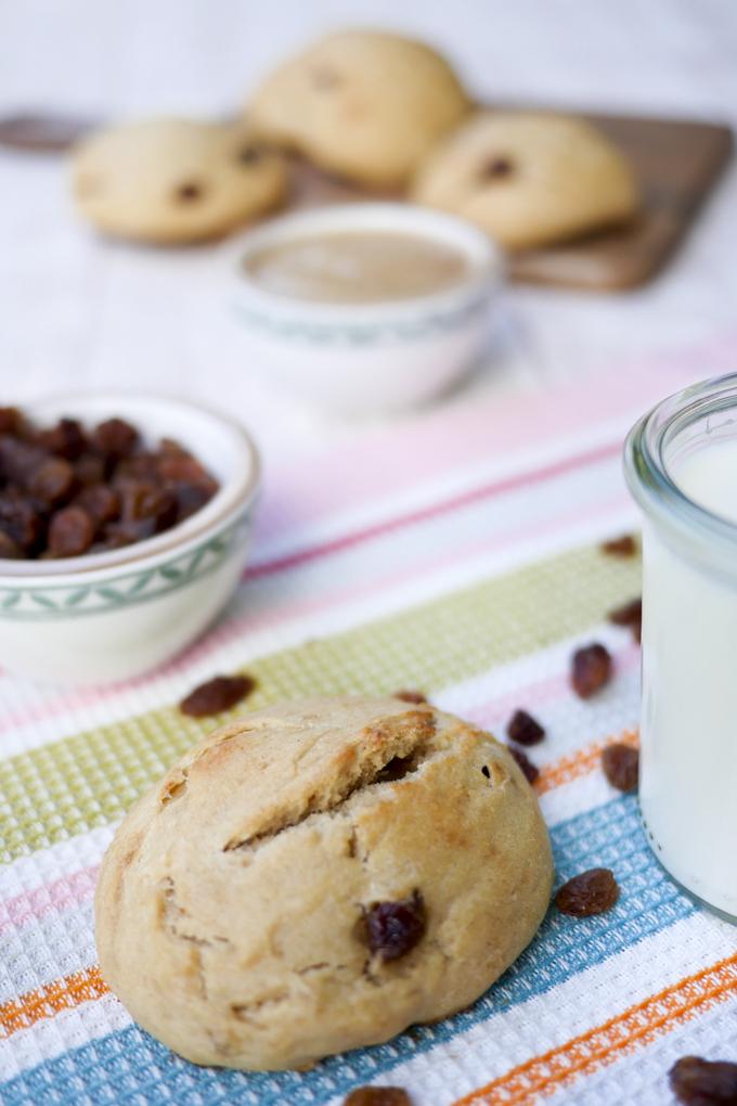 Gesunde Milchbrötchen mit DInkelmehl, Milch und Apfelmark für Kinder