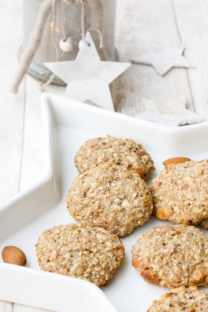 Gesunde Kekse mit Mandeln für ein Weihnachtsfest ohne Reue - perfekt für Kinder