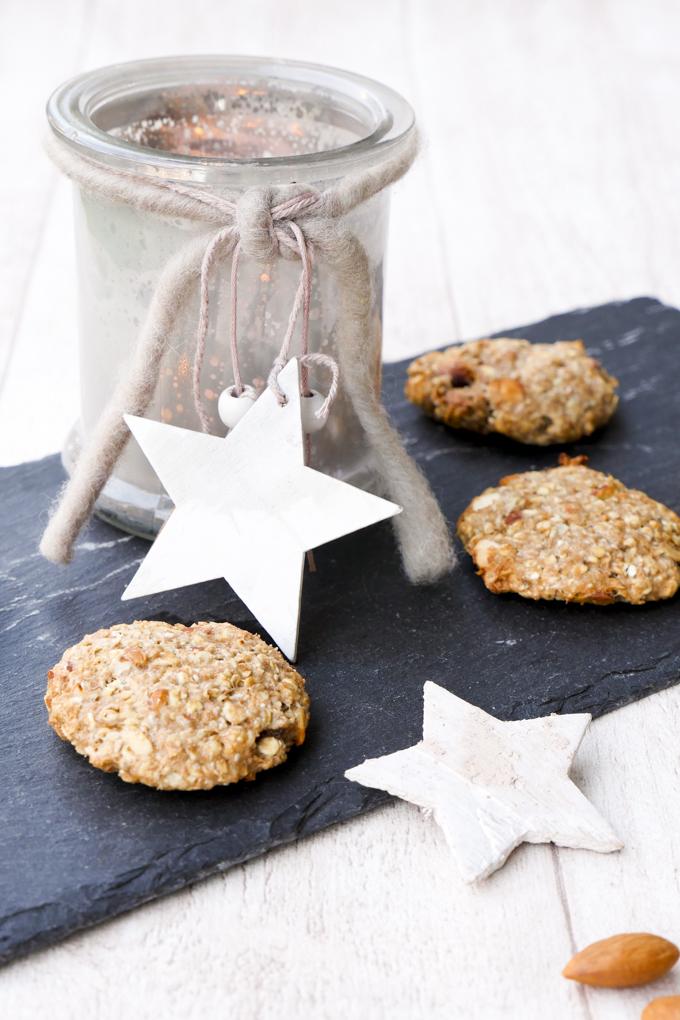Gesunde Kekse ohne Zucker für das Weihnachtsfest