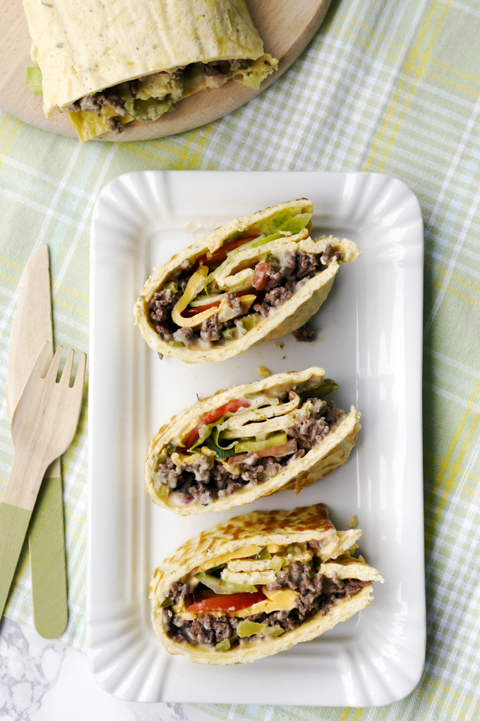 Low Carb Big Mac Rolle / Low Carb Big Mac Wrap
