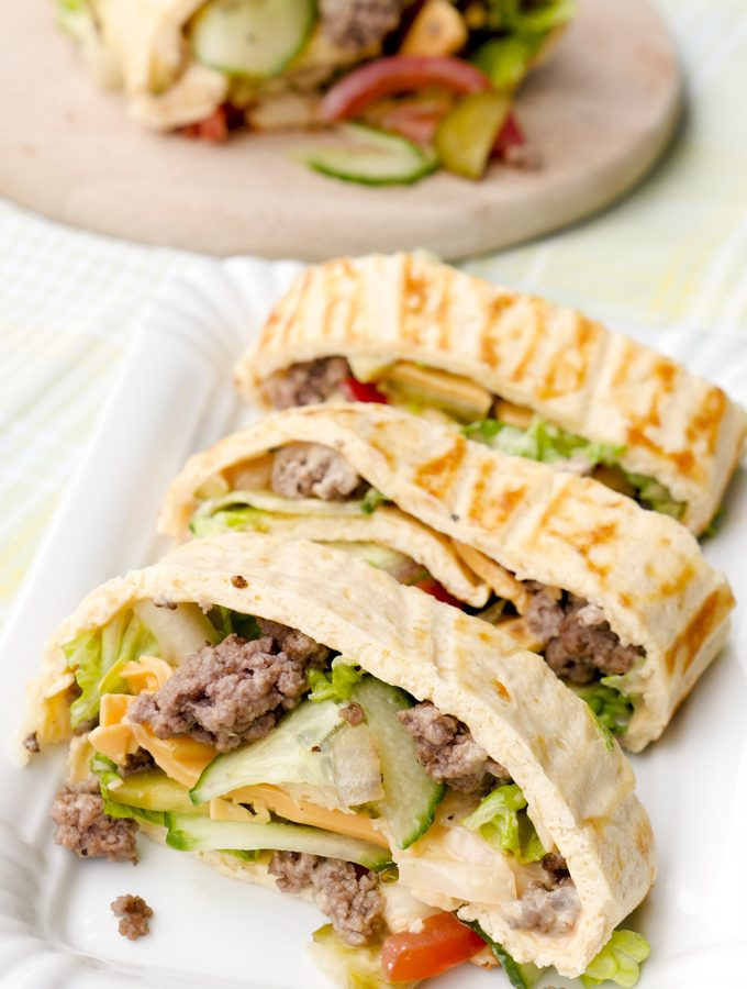 Low Carb Big Mac Rolle / Big Mac Wrap