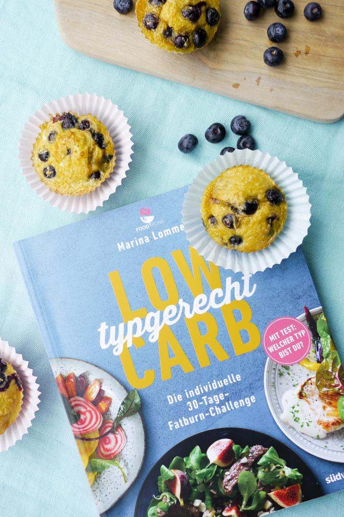 """Low Carb Muffins auf dem Buch """"Low Carb typgerecht"""" von Marina Lommel - Foodpunk"""