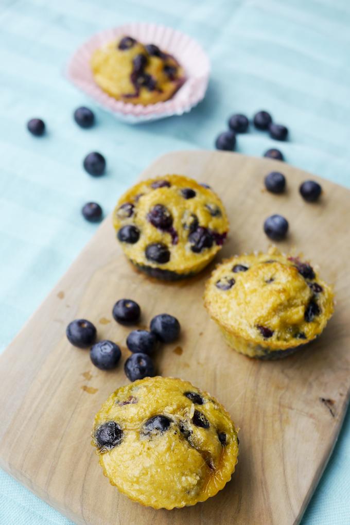 Low Carb Heidelbeer-Muffins mit nur 5 Zutaten