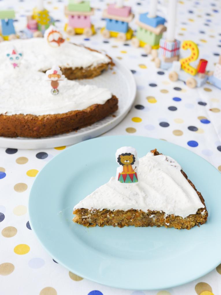 Zuckerfreier Möhrenkuchen für Kinder / Rüblikuchen / Karottenkuchen