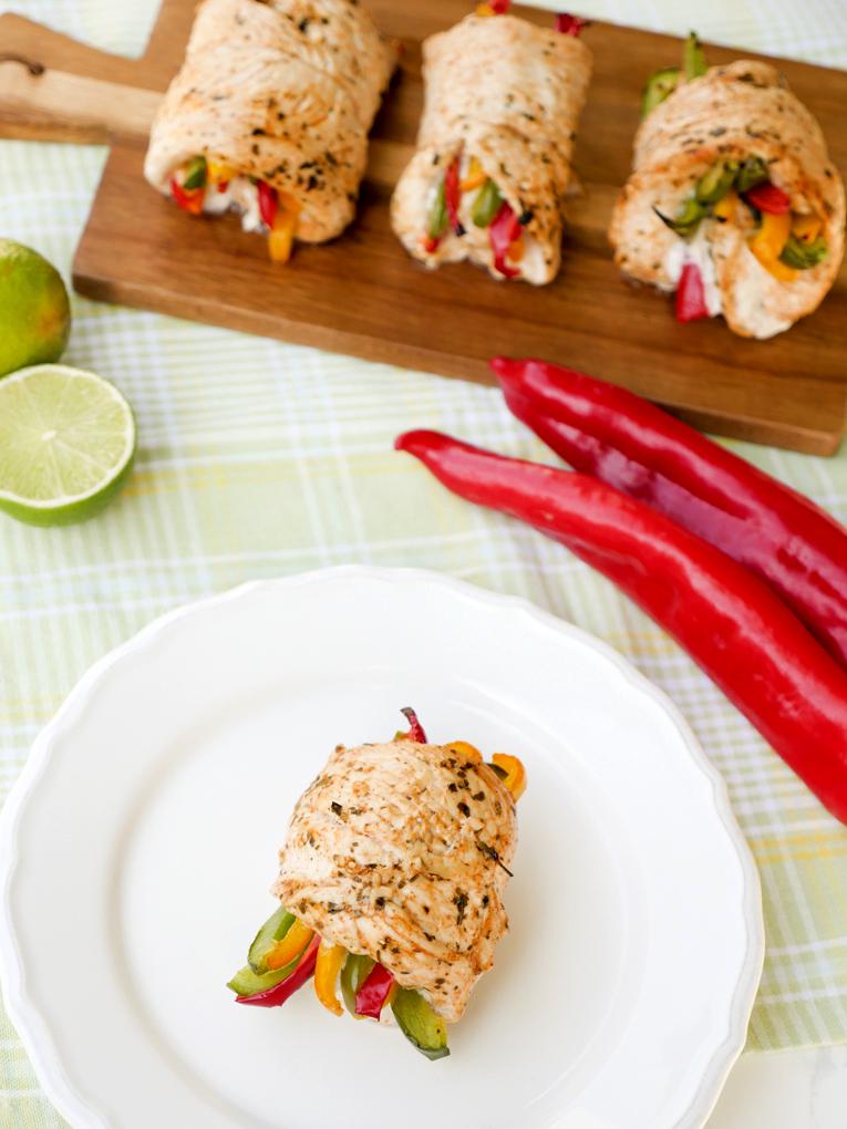 Low Carb Chicken Fajitas mit Paprika und schneller Marinade