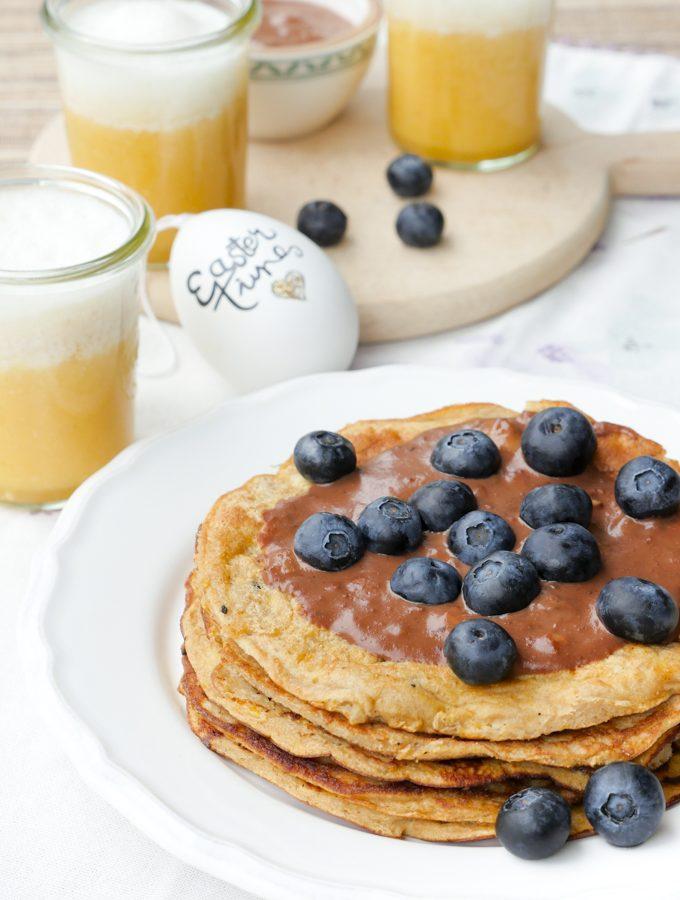Rezepte für das Osterfrühstück (mit Low Carb Pfannkuchen)
