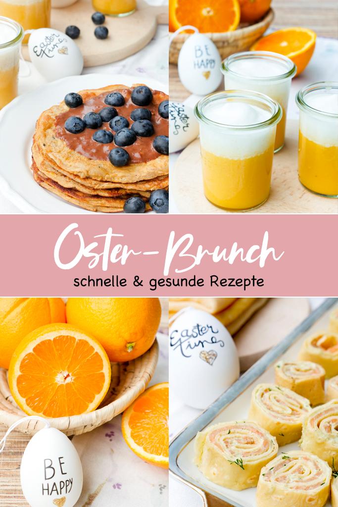 Drei schnelle und gesunde Rezepte für den Osterbrunch - mit Low Carb Pfannkuchen, Orangen-Smoothie und Lachs-Avocado-Röllchen
