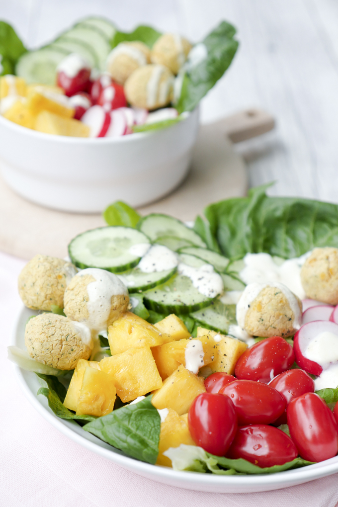 Low Carb Falafel-Bowl-Rezept für 0 Weight Watchers SmartPoints