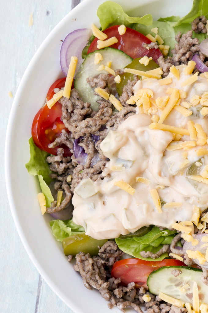 Low Carb Big Mac Salat / Low Carb Cheeseburger Salat