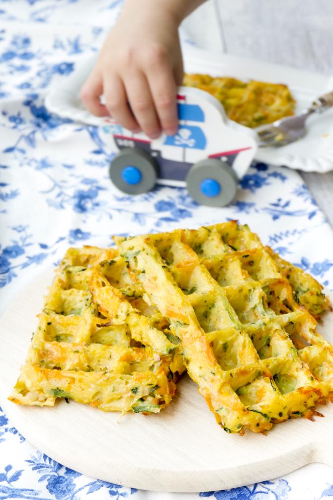 Kartoffelwaffeln für Kinder mit leckerem Gemüse