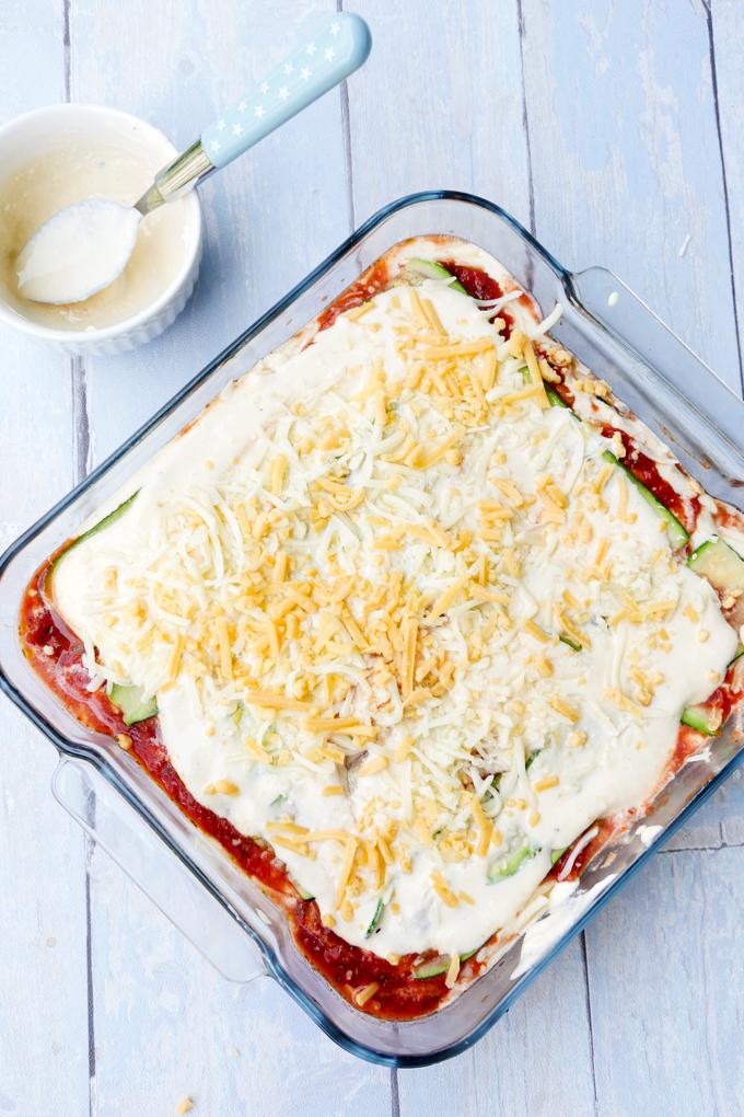 Low Carb Lasagne Rezept mit Zucchini und Ricotta